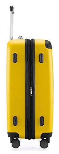 HAUPTSTADTKOFFER - Spree - 2er Koffer-Set Hartschale matt, TSA, 65 cm + 55cm, 82 Liter + 49 Liter, Schwarz Lila/Gelb