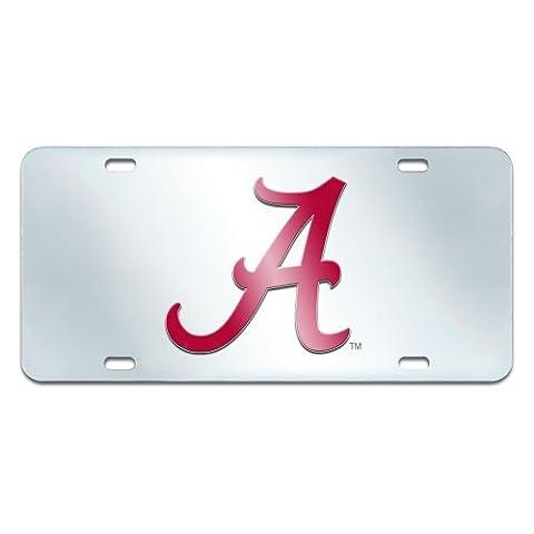 FANMATS NCAA University of Alabama Crimson Tide Plastic License Plate (Inlaid) by Fanmats