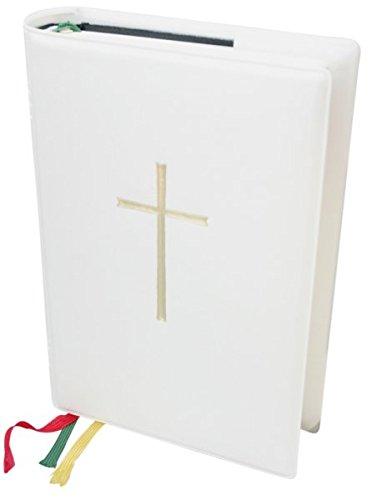 Bibelhülle Gotteslob Steckhülle weiß mit Kreuz 19 x 13 cm