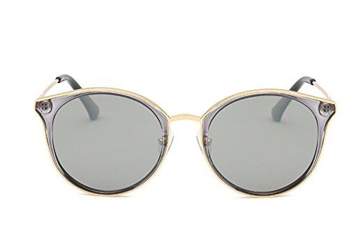 RinV Damen Herren polarisierte Sonnenbrille Fashion Vintage Sonnenbrille Fahren Brille Beach Spiegel, Silber, Einheitsgröße