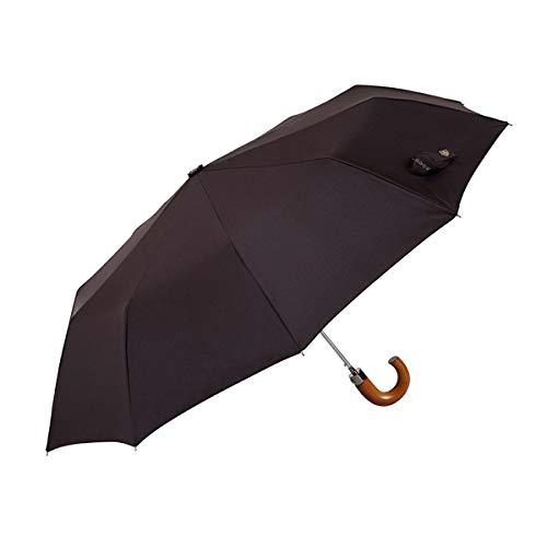 36ad9c4c7f0 EZPELETA Paraguas Plegable de Hombre. Automático y con puño Curvo de Madera.