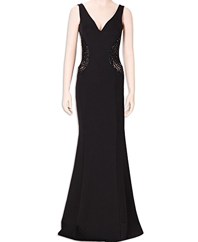KAXIDY Abito Lungo Vestiti da Donna Eleganti Vestito Sera Vestiti da Cerimonia Nero