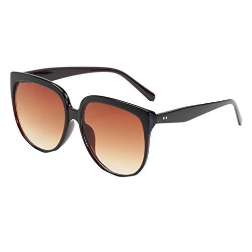iCerber sonnenbrillen Süß Schöne Verspielt Mode Mann Frauen unregelmäßige Form Sonnenbrille Brille Vintage Retro Style UV 400 ❀❀2019 Neu❀❀(XLMehrfarbig)