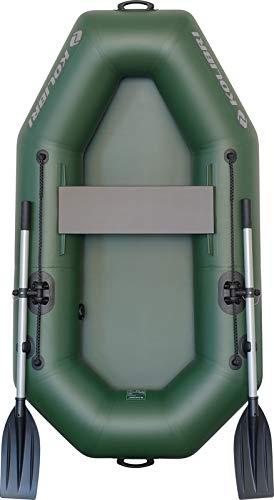 kolibri K-190 Schlauchboot - Ruderboot Paddelboot Angelboot Beiboot - inkl. Transporttasche, Fußluftpumpe & Reparatur-Set