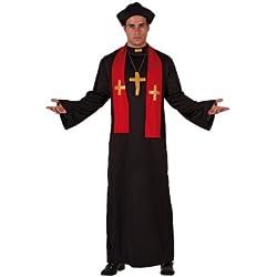 Atosa - 70388 - Disfraz Cura- talla M-L - Color Negro para Hombre Adulto