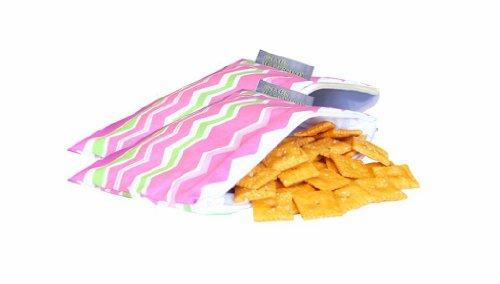 itzy-ritzy-snack-happened-lot-de-2petits-sacs-goter-pour-fille-motif-little-miss-zig-zag