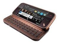 Nokia N97 mini Smartphone (UMTS, WLAN, GPS, 5 MP, Ovi Karten, QWERTZ-Tastatur) garnet (Microsoft Wireless Multimedia Tastatur)
