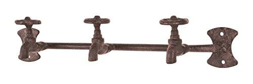 8er Garderobenleisten Set in Wasserhahnoptik aus Stahl in antikbraun; Maße (BTH) in cm: 37 x 9 x 7