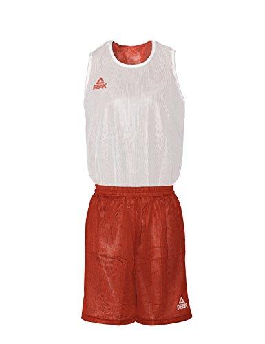 Peak Sport Europe Basketball Wendeset Reversible Trikot Set Iowa Rot-weiß, XXS -