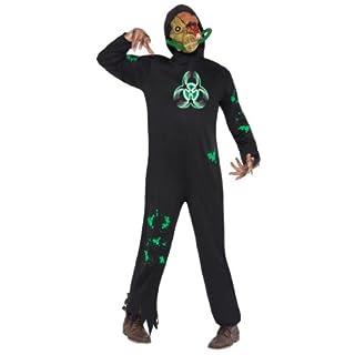 Untoter Halloweenkostüm Kostüm für Halloween Horror Anschlag Bio verseucht Gift vergiftet Fasching schwarz Schwarzes Zombiekostüm Bio Hazard Zombie für Herren Herrenkostüm Atom Unfall Gr. 48/50 (M), 52/54 (L), Größe:L