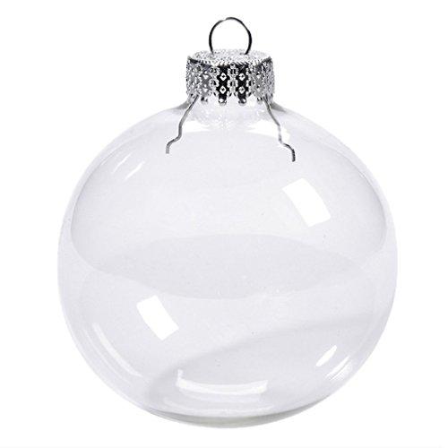 MagiDeal Boule de Noël Boule de Transparent à Remplir Plastique Décoration Ornement Noël - Transparent, 6cm