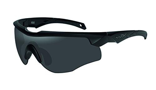 Wiley X Erwachsene Schutzbrille Rogue im Set mit 2 Gläsern, schwarz