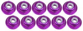 3RACING RC Model Hop-ups 3RAC-NF20/PU 2mm Aluminum Flanged Flanged Flanged Lock Nuts (10 Pcs) - Purple | 2019