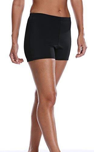 Charmleaks Damen stretch swim bottom sport board shorts fest tankini shorts 20 schwarz basic