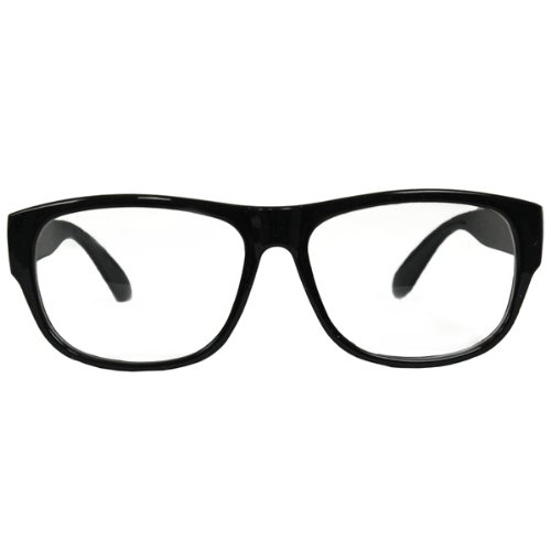 NEU Brille Erich, schwarz (Fünfziger Jahre Herren Kostüme)