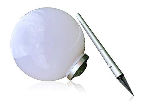 XL 50 cm Garten Kugel Lampe LED Solarleuchte Solarlampe Kunststoff Kugelleuchte 50 cm XL Durchmesser - sehr hochwertig verarbeitete Solar Gartenkugel aus wetterfestem Kunststoff - mit 4 brite LEDs für tolle Stimmungsbeleuchtung - perfekt als Wegeleuchte oder Gartendekoration