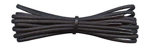 Fabmania 2 mm redondo negro encerado algodón cordones-75 cm de longitud-cordones finos para zapatos...