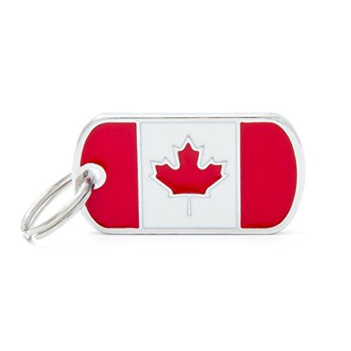 Médaille MyFamily Military Petite Flags Canada plaque chien gravure gratuite coutume chat