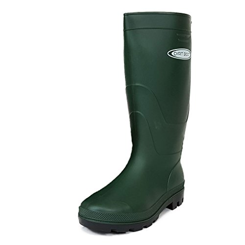 DIRT BOOT LADIES & MENS GREEN OR BLACK FESTIVAL WELLINGTON BOOTS,WELLIES,GARDINING,RAIN,RUBBER (UK...