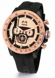 Reloj yema hombre Rosegold–negro–ymhf0708–Idea regalo Noel