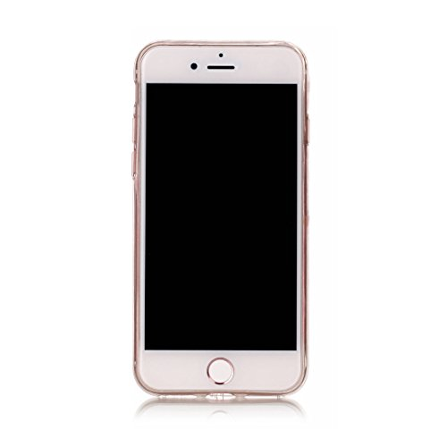 iPhone 7 Custodia, [Materiale flessibile TPU Gel trasparente del silicone Grip sottile e leggero ] Copertura iPhone 7 Case, Shock Proof [ Cartoon Totem bianca ] # # 5