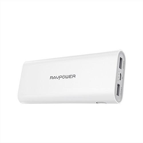 Galleria fotografica RAVPower Caricabatteria Portatile 16750mAh, Batteria Alta-Velocità con Doppia Porta iSmart 2.0 USB, Power Bank Potenza Max 4.5A per iPhone, iPad, Galaxy, e Dispositivi Android -Bianco