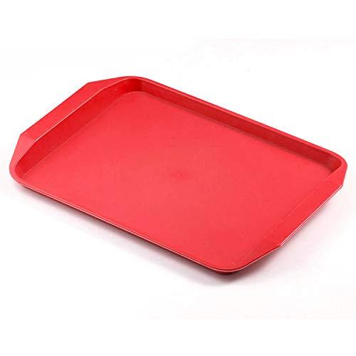 BSTLY plato plástico multi-especial bandeja de comida restaurante suministros de cocina rojo 457 * 353mm