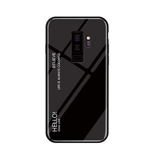 Kucosy Samsung Galaxy S9 SchutzHülle Mode-Gradienten Spiegel Handyhülle Stoßfestes und Kratzfest Handy-Etui mit Silikon TPU + Hart Bumper Zurück Schale Hülle für Galaxy S9, Schwarz