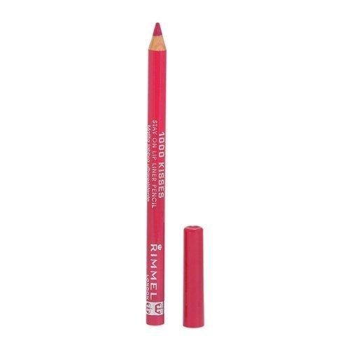 Rimmel Crayon contour des lèvres 1000 Kisses - Tracé précis et régulier, intense en couleur - Longue tenue - Coloris Indian Pink (Ensemble de 3)