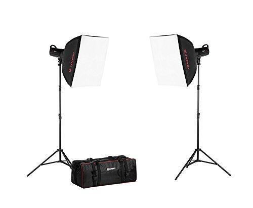 JINBEI DM-3 Studioset Kit 2, TR-V6, Softboxen, Stative, Tasche