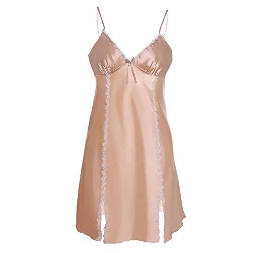 damen Spitze Eis Seide sexy dünne Nachthemd Pyjamas YunYoud schlafmode pyjamas hochwertige damenwäsche transparente nachthemd nachtkleider schlafanzughose pyjamahose jumpsuit