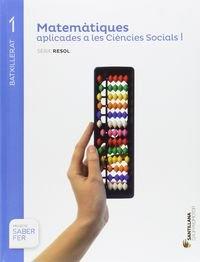 Matematiques. Ciencies Socials. Batxilerat 1