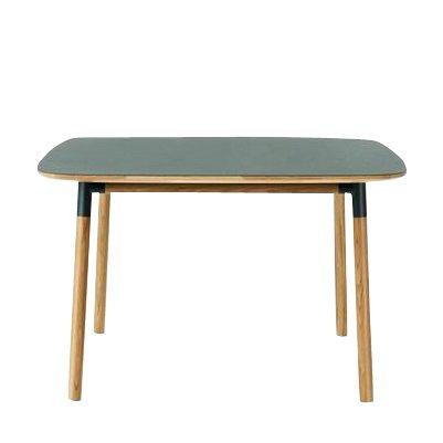 Forme Table de Salle à Manger 120 x 120 cm Standard grün/eiche