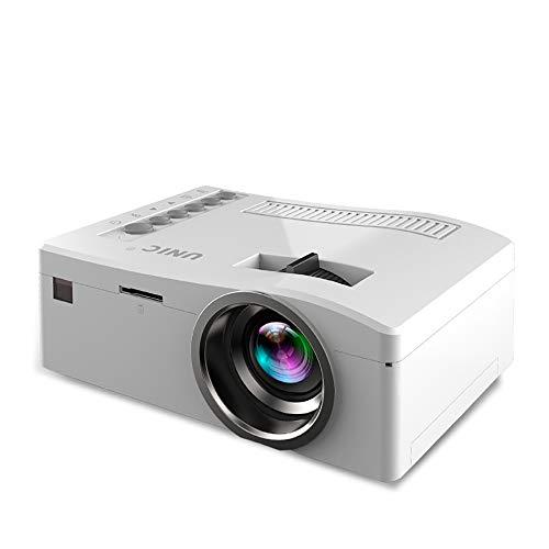 Electz Projektor, tragbarer Mini-Projektor, 2200-Lux-LCD-Videoprojektor, Full HD 1080P und 130 '' Display unterstützt, kompatibel mit TV-Stick, PS4, HDMI, VGA, TF, AV und USB,White 42 1080p Lcd Tv