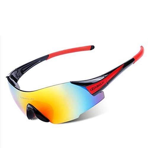W.zz Outdoor-Radsportbrille Brille Mode Sport-Sonnenbrille ultraleichte randlose Brille geeignet zum Radfahren Lauf Sonnenbrille,BlackRed