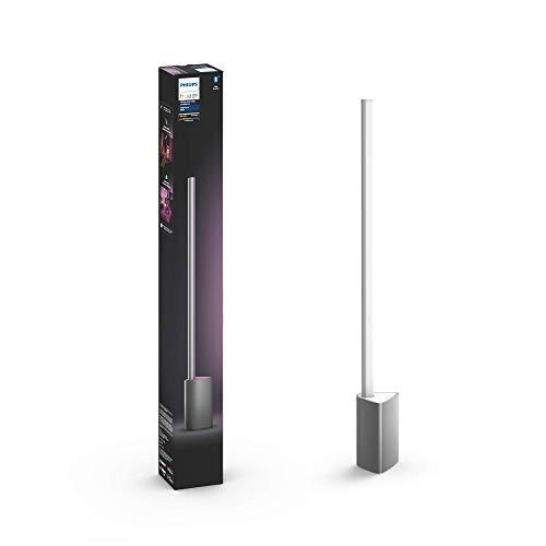 Philips Hue Signe - Lámpara de mesa inteligente LED Integrado en aluminio, luz blanca y de colores, compatible con Bluetooth y Zigbee, funciona con Amazon Alexa y Google Home