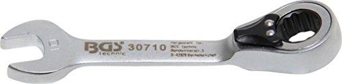 Bgs Clé mixte à cliquet, courte, 10 mm, 1 pièce, 30710