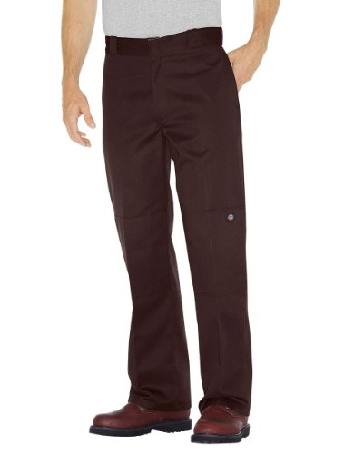 Dickies Double Knee Work Pant Chino Dark Brown, Br (Herren Work Knee Double Pant)