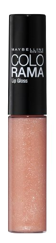 Maybelline New York Make-Up Lipgloss Colorama Barely There Pink / Strahlendes Altrosa für einen...