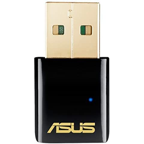 ASUS USB-AC51 - Adaptador USB inalámbrico (N300 Mbps, MIMO, WPS), negro