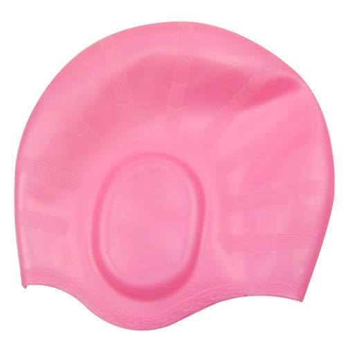 Erwachsene Schwimmen Kopf Kappe Feste Farben Wasserdicht Schützen Ohren Abdeckung Weichen Silikon Leichte Unisex Schwimmen Zubehör -