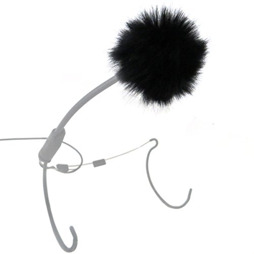 KEEPDRUM WS05 Mini Fell-Windschutz für Lavalier-Mikrofone Ansteckmikrofone und Headsets