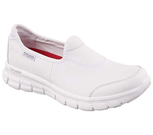 Skechers sure track, scarpe antinfortunistiche professionali donna, bianco, 38.5 eu