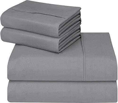 Utopia Bedding Cal Bettwäsche-Set für King-Size-Bett, 4-teilig, Grau (Cal-king-size-bettwäsche-sets)