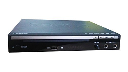 Gadget-Wagon Hd Dvd Player With HDMI / Composite Output | 2 Microphone Inputs Suitable For Karaoke | Plays Cd, Mp3 Vcd, Dvd, Hd Disc With | Remote
