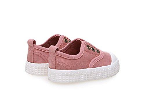 ALUK- Chaussures de bébé - Chaussures de toile pour enfants Apprenez chaussures paresseuses Chaussures occasionnelles ( Couleur : Turmeric - color , taille : 19 ) Water - red