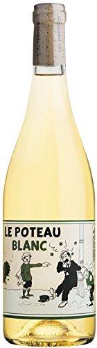 Le Poteau Blanc, vendu en coffret de 6 bouteilles x 0,75 litres, assemblage de Chardonnay et de Viognier, Vin français, millésime 2017