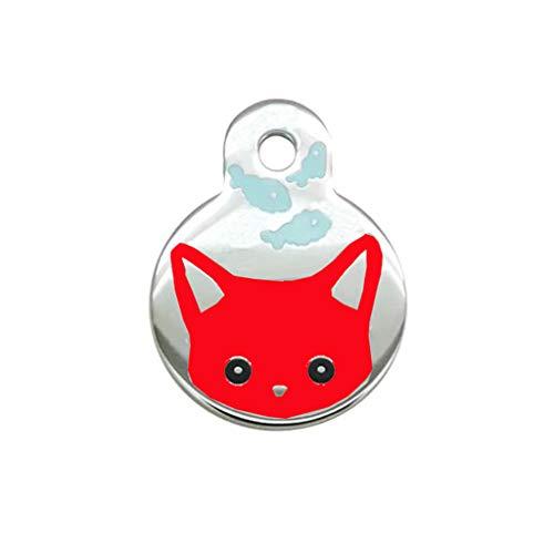 YA-Uzeun Haustiermarke für Haustiere, personalisierbar, Verschiedene Formen und Farben zur Auswahl