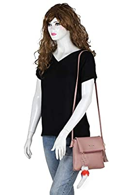 Vogue Street Women's Pink PU Sling Bag