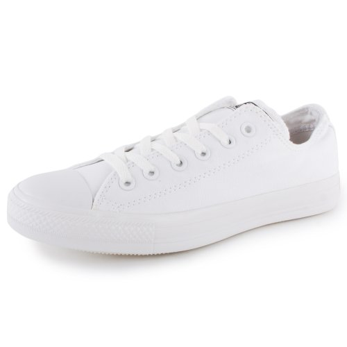 Converse Ctas Mono Ox 015490, Unisex - Erwachsene Sneaker Weiß Mono